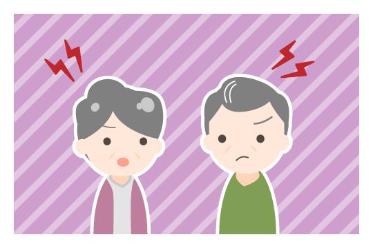 熟年離婚の原因(相手の顔を見ることがストレス)