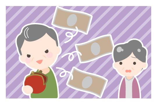 熟年離婚の原因(借金、浪費癖)