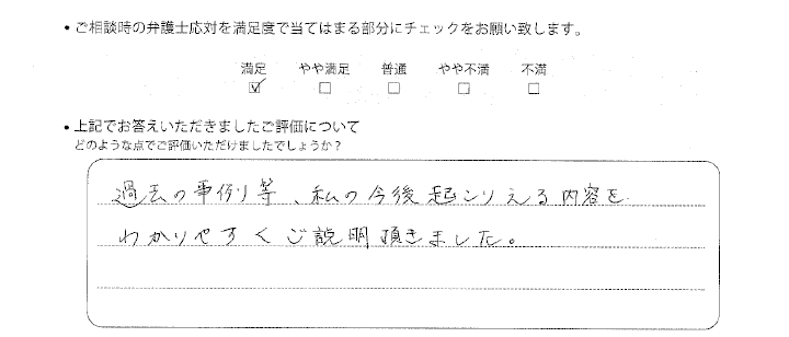 大阪法律事務所に離婚問題をご相談いただいたお客様の声